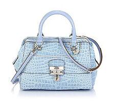 GUESS Yorkshire Box Satchel Blau, Henkeltasche Handtasche Damentasche