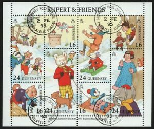 Guernsey-1993-Mi-Nr-590-597-gest-used-Comicserie