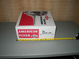 AMERICAN-FLYER-REPRODUCTION-BIG-SET-BOX-ONLY-NO-TRAINS-FOR-LATE-50-039-S-SETS