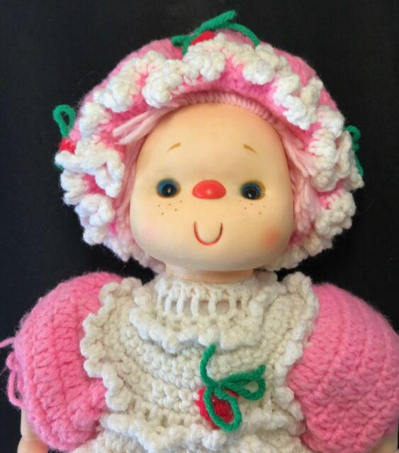 Vintage Crochet Pink Doll Outfit