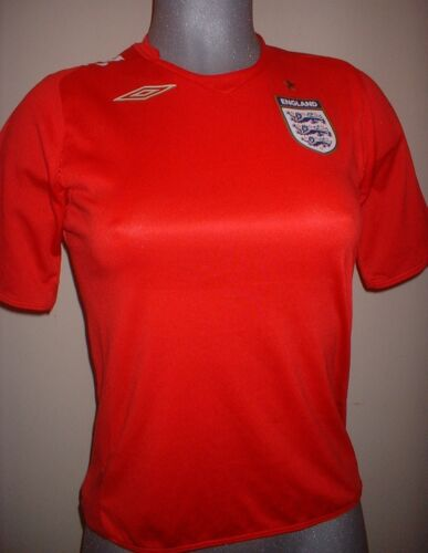 Ladies Womens Girls England Football Soccer Shirt Jersey Umbro Beckham Gerrard