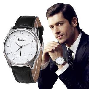 Retro-Design-Herren-Quarz-Armbanduhren-Leder-Band-Analog-Alloy-Mode-Wrist-Watch