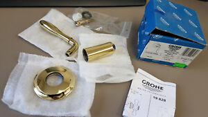 Grohe 06 490 R00 Tricorn Deluxe Solid Brass Handle Polished Brass Finish @@2