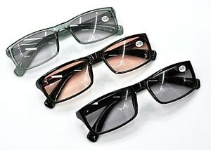 Tn68 bifocal multi purpose tinted sunglasses sun reading glasses in 3