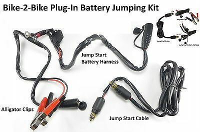 Eklipes Kawasaki 12 Volt V 2000 AMPS Battery Jumping Kit Harness Clip Plug Combo