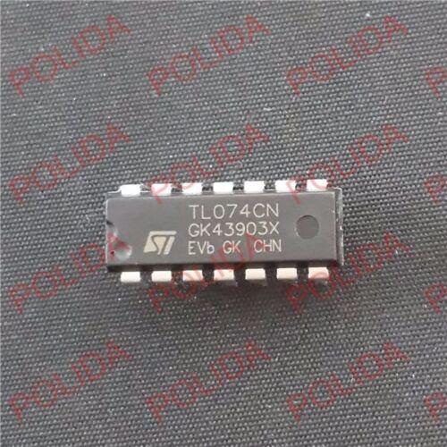 50PCS JFET OP AMP IC ST DIP-14 TL074CN