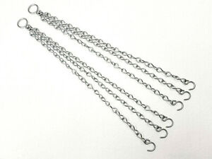 2-Garden-Hanging-Basket-Chains-Easy-Fit-Spare-Metal-14-034-long-Replacement-Hangers