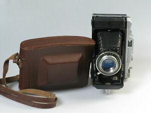 Balgenkamera-6x9-120er-Rollfilm-ERCONA-II-mit-NOVONAR-1-4-5-110-mm-Tasche