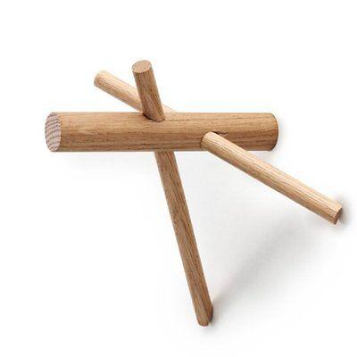 NEUWERTIG: Normann Copenhagen 380505 Sticks Hooks 2er Set, Wandhaken