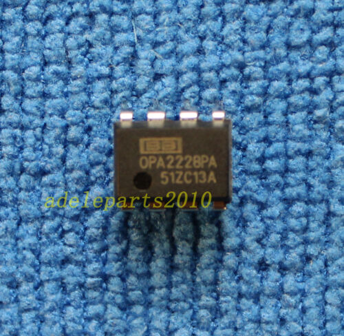 5pcs OPA2228P OPA2228PA OP AMP IC BURR-BROWN/BB DIP-8