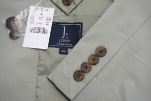 J.Crew Thompson Khaki Brown Cotton Blend Sport Coat Jacket Sz 44L NEW W TAGS