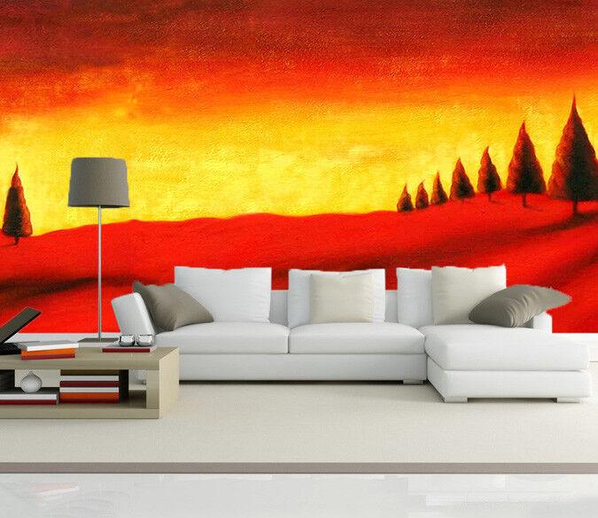 3D Sonnenuntergang Baum 743 Tapete Wandgemälde Tapete Tapeten Bild Familie DE  | Gemäßigten Kosten  | Vielfältiges neues Design  | Qualität und Quantität garantiert