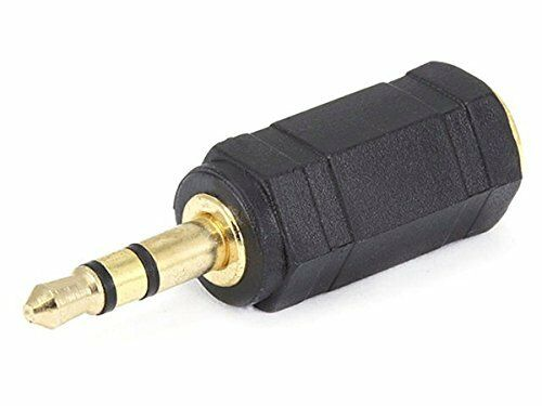 Gold Plated 2.5mm Male to 3.5mm Female Headphone Jack Audio Adapter 5x 5-pack