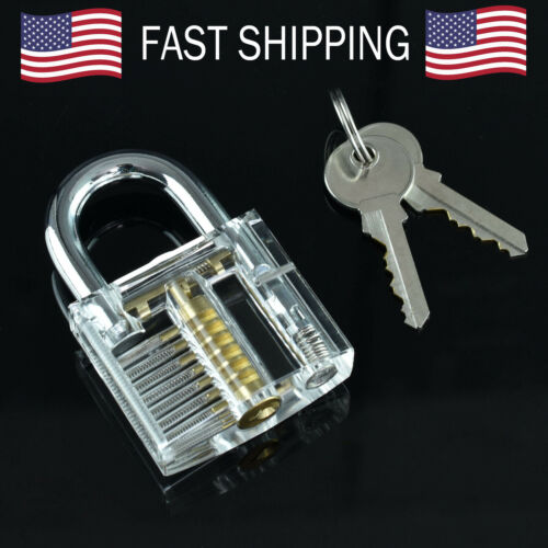 Clear Practice Lock Transparent Visible Inside Padlock For Locksmith Practice