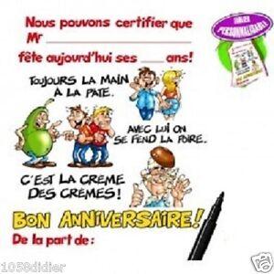 Image Bon Anniversaire Garçon.Details Sur Tablier Bon Anniversaire Homme Garcon Avec Stylo Cadeau Joyeux Neuf Pas Cher