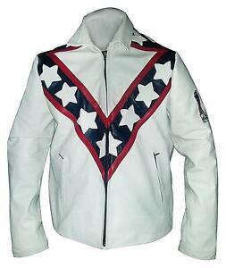 Men-039-s-Cafe-Racer-Vintage-Evel-Knievel-Stunt-Performer-Biker-Real-Leather-Jacket