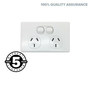 Slim-Double-Power-Point-GPO-Outlet-Switch-Electrical-Slimline-Style