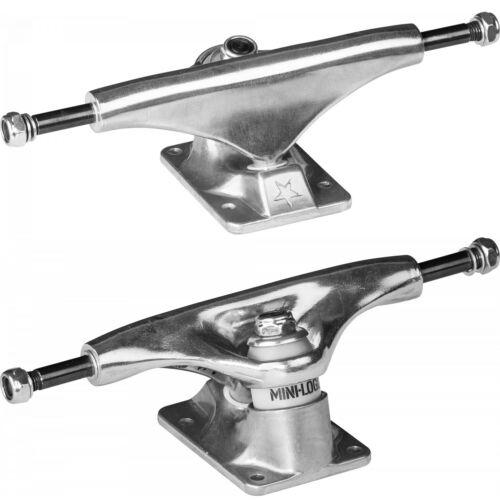 "Pair Powell Mini Logo Skateboard Trucks Raw Silver 8.0/"" Axle"