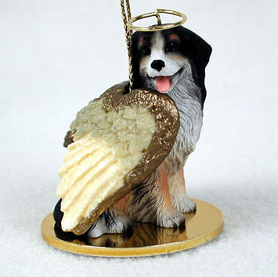 Bernese Mountain Dog Figurine Ornament Angel Statue Hand Painted