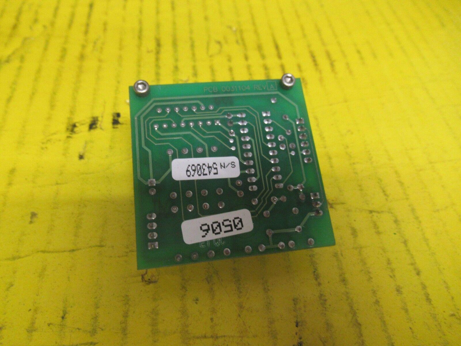 LABEL AIRE REWIND CONTROL PCB BOARD 0031104 REV A