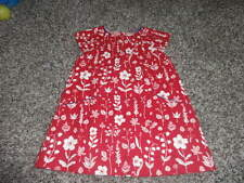 NWOT NEW BABY BODEN 6-12 RED FLORAL DRESS THIN CORD