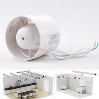 4/6 Inline Duct Booster Fan Cooling Exhaust Blower Air Cooling Vent Fan Abs