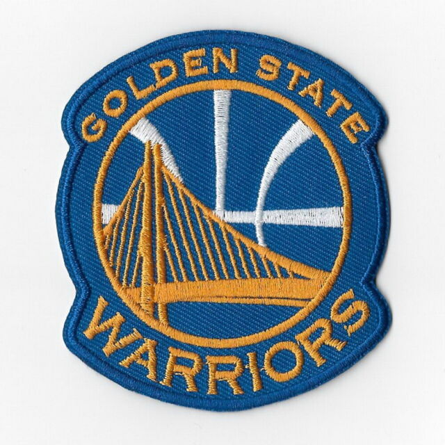 new concept bfaff f78cb NBA Golden State Warriors Iron on Patches Embroidered Badge Patch Applique  Sew