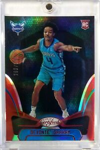 2018-Panini-Certified-Mirror-Red-Devonte-039-Graham-Rookie-RC-184-299-Hornets