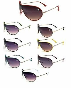 New-DG-Womens-Fashion-Designer-Sunglasses-Shades-Aviator-Neon-Shield-DG7226