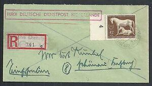 German Reich covers 1944 cover Deutsche Dienstpost Niederlande HORSES