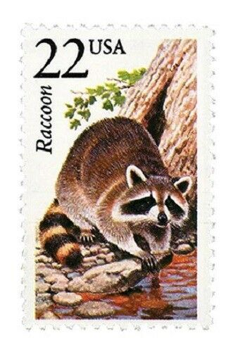 1987 22c Raccoon, North American Wildlife Scott 2331 Mi