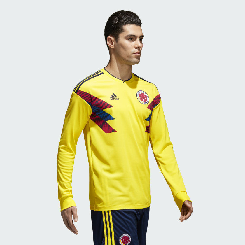 ADIDAS COLOMBIA Home Jersey giallo brillanteCollegiate Navy Taglia Media VR127 06