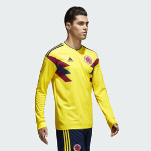e2c3fd441 Image is loading Adidas-Colombia-Home-Jersey-Bright-Yellow-Collegiate-Navy-