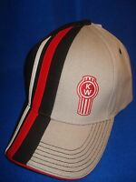 Kenworth Hat: Grey, Red, Black, White, Color Block Free Shipping