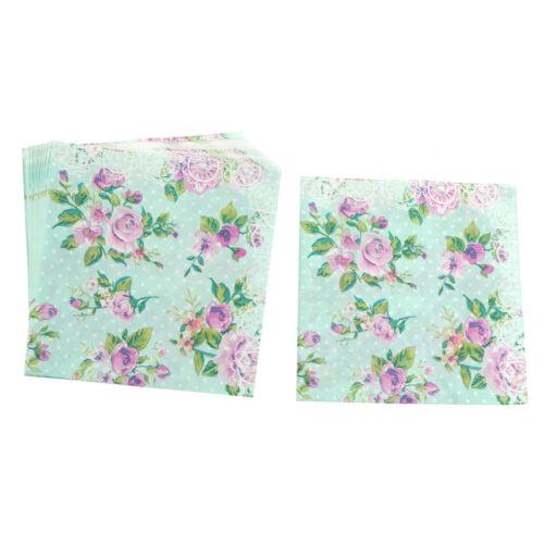 color printing paper napkins rose festiveparty tissue floral decoration 20pcs LL
