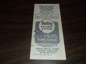 JUNE-1961-READING-COMPANY-PHILADELPHIA-WAYNE-JUNCTION-PA-PUBLIC-TIMETABLE