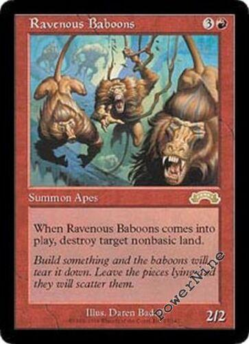 Red Exodus Mtg Magic Rare 4x x4 4 PLAYED Ravenous Baboons