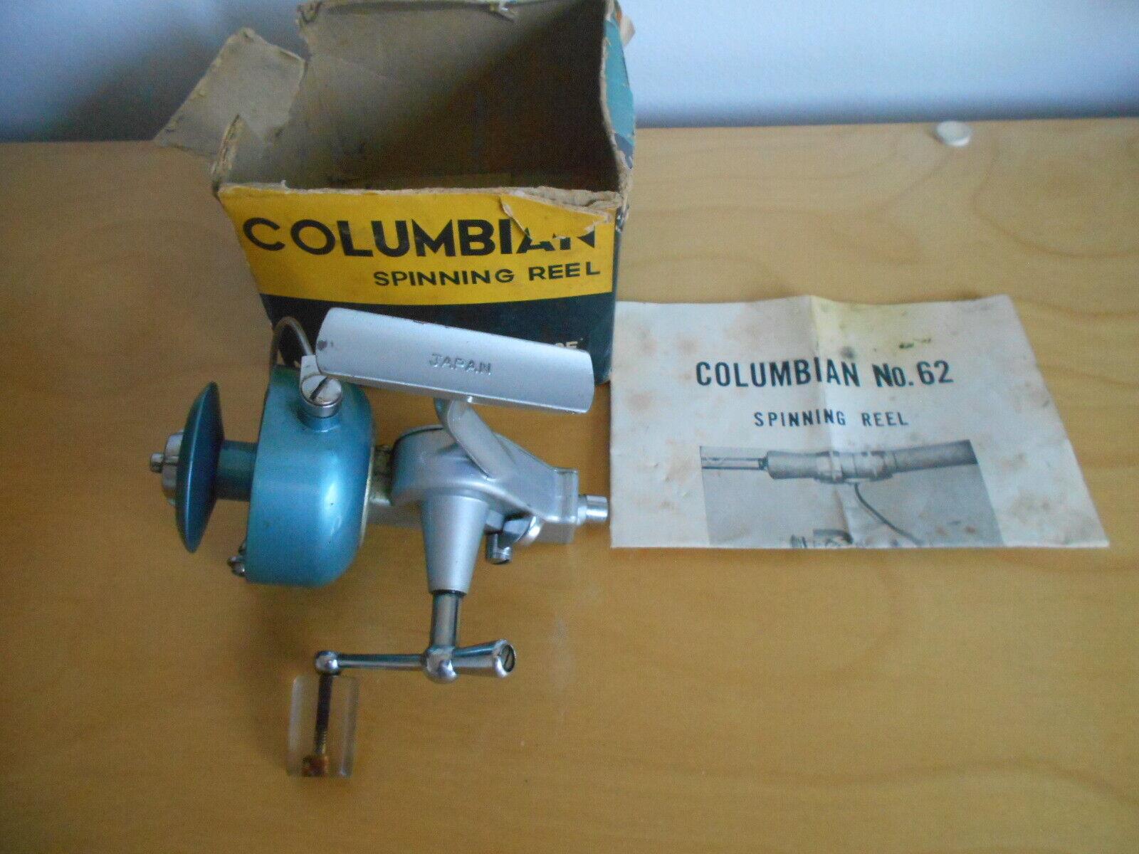Vintage Angelrolle Columbian 62 Japan Schöne Stäbe Reels N Deals
