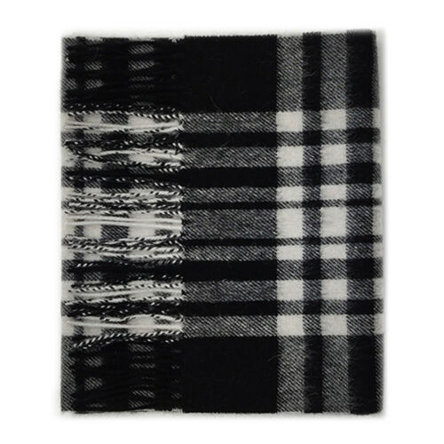 Kiltane di Scozia 100/% LANA D/'AGNELLO TARTAN SCIARPA-esplose Black /& White Menzies