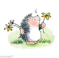 New Penny Black DELIGHTS Wood Rubber Stamp Flowers Hedgehog Garden Happy