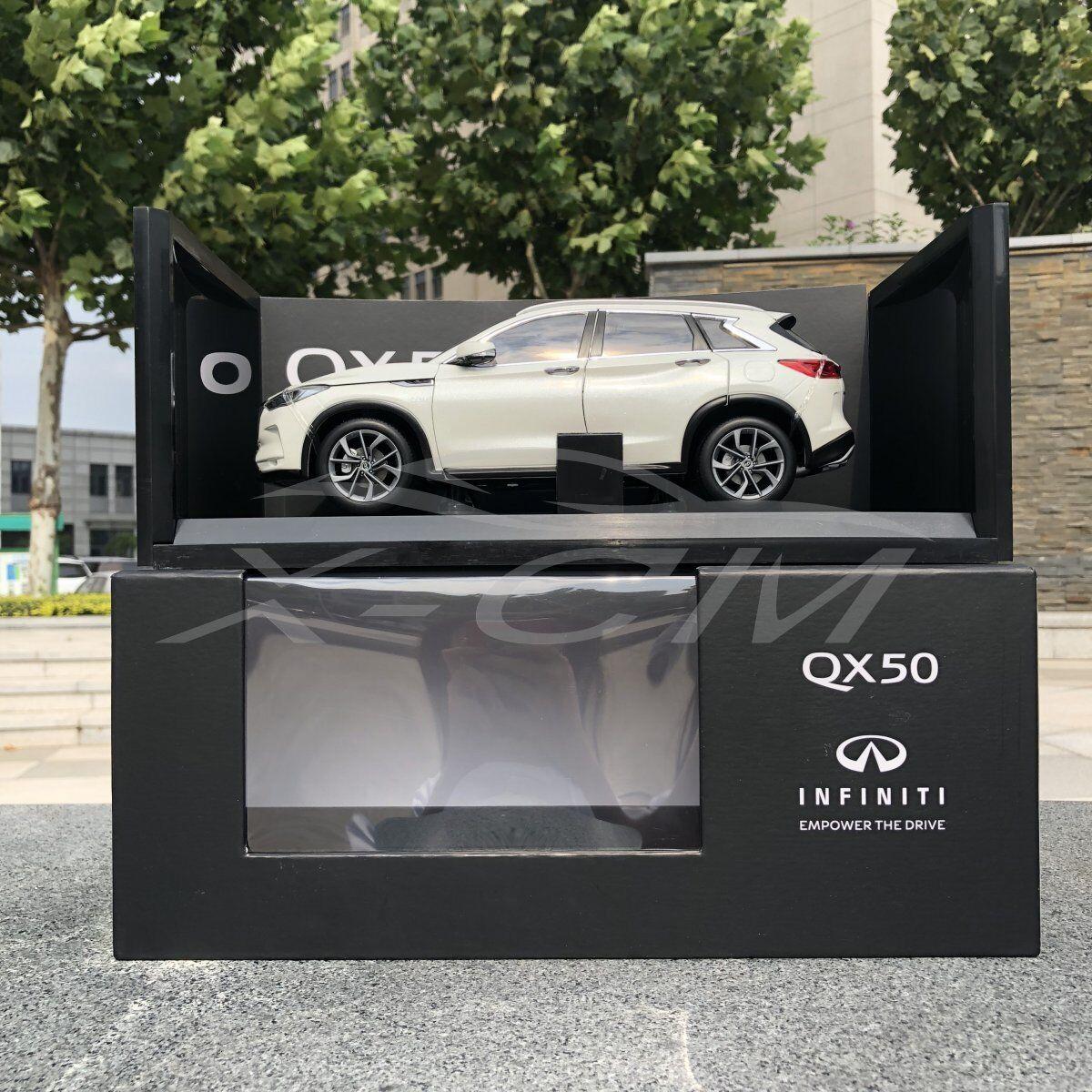 Diecast Car Model Keng Fai Dong Feng Infiniti New QX50 1 18 (White) + GIFT