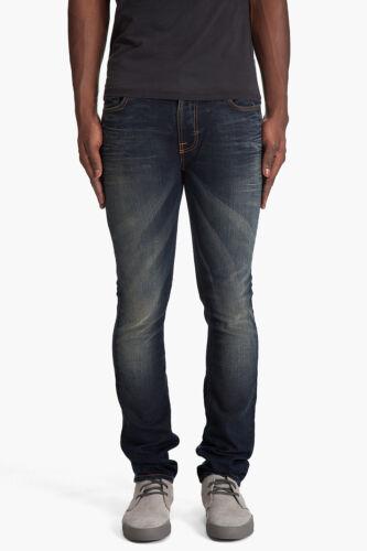 new Nudie Mens Slim Skinny Fit Organic Denim JeansThin Finn Crispy Crinkles