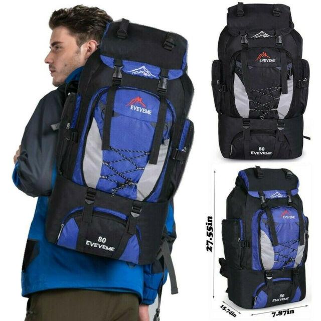 80 Camping Travel Rucksack Waterproof Mountaineering Outdoor Backpack Hiking Bag