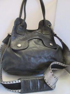 site réputé cd211 5d8f4 Détails sur Sublime authentique sac à main HOGAN cuir et reptile vintage  bag _