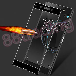 FULL-SIZE-FIT-BLACK-TEMPERED-GLASS-SCREEN-PROTECTOR-PREMIUM-FOR-SONY-XPERIA-XA1