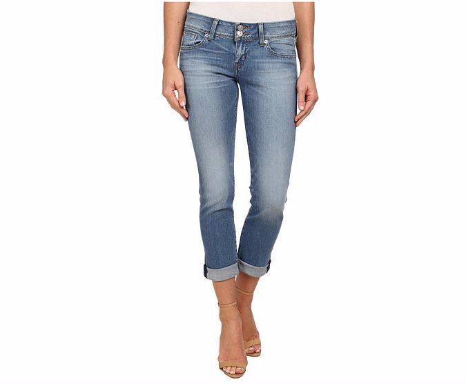 NWT HUDSON Ankle Ginny Straight Jeans w  cuff - Size 26 BRAND NEW - HOT SPRINGS