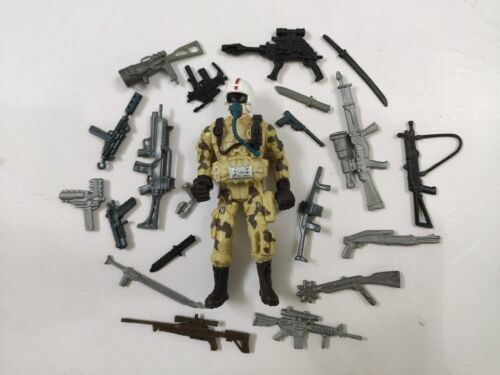 """3.75/"""" Gi Joe the Lannard Corp Soldier #267 with 5pcs Weapons Action Figure"""