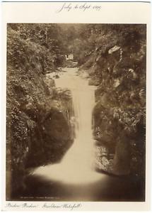 Allemagne-Baden-Baden-Geroldsan-Wasserfall-L-L-Vintage-albumen-print-Tira