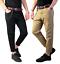 Pantaloni-Strappati-Uomo-Jeans-Slim-Fit-Casual-Primaverili-Nero-Pantalone-Strapp miniatura 1
