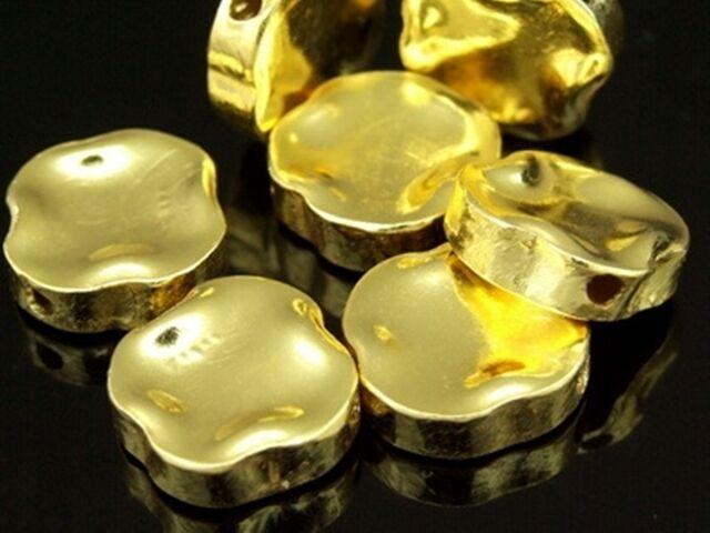 KG-631 Thai karen hill tribe silver 4 gold vermeil spiral bead